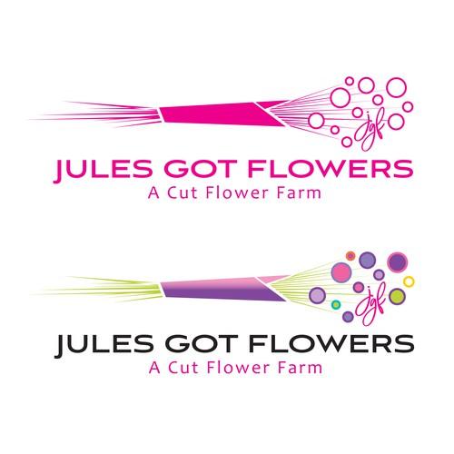 cut flower farm logo