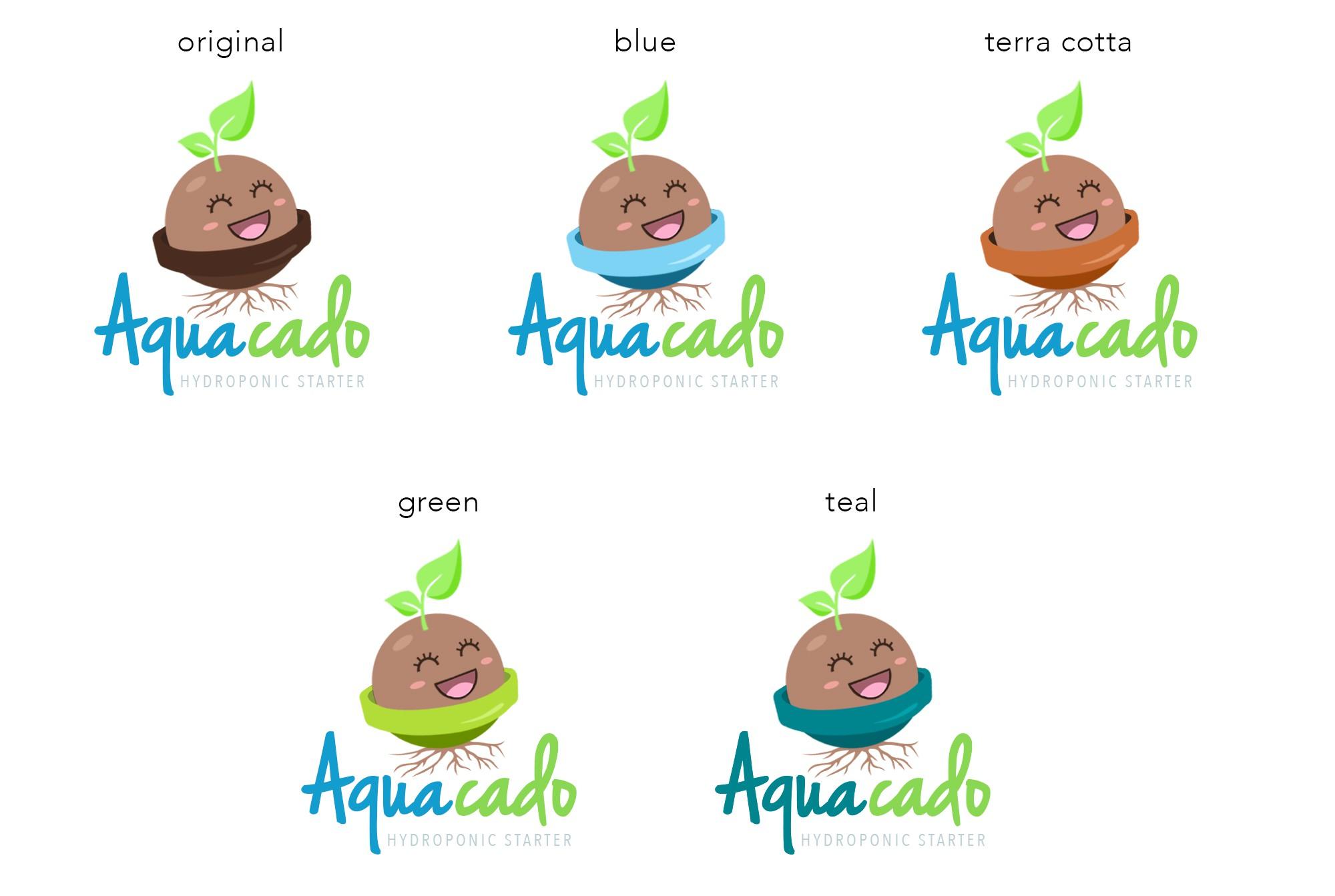 Design a fun logo for a simple avocado hydroponic device