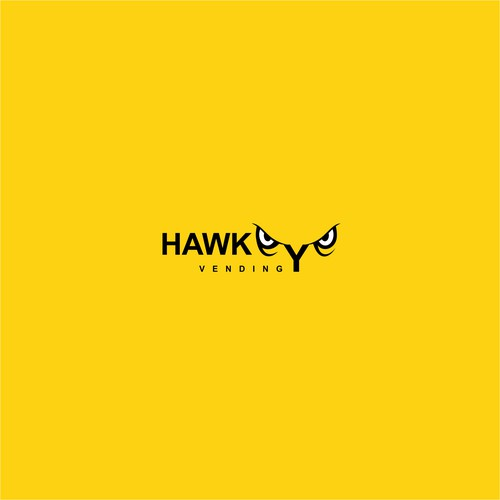 "Logo concept for ""Hawkeye Vending"""