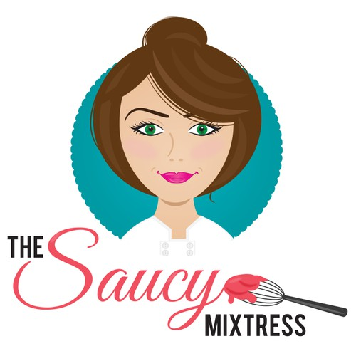 Create a presence for a hip new food blogger whose alter ego is the saucy mixtress.