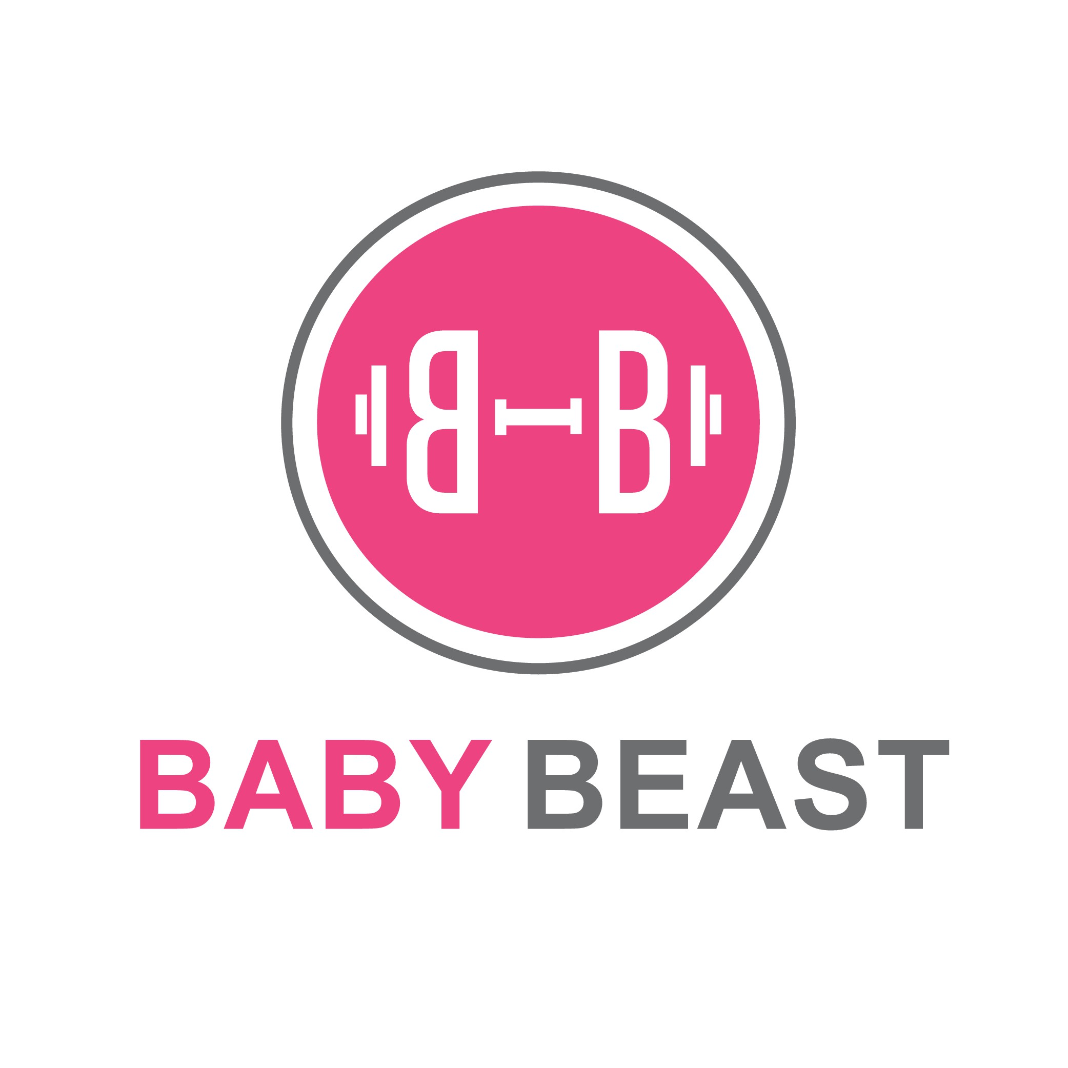 Create a FITNESS logo for Baby Beast - an inspirational little girl with Apraxia