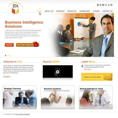 Jonathan Tooley Associados lda needs a new website design