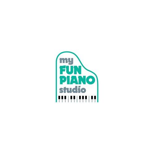 Logo concept piano