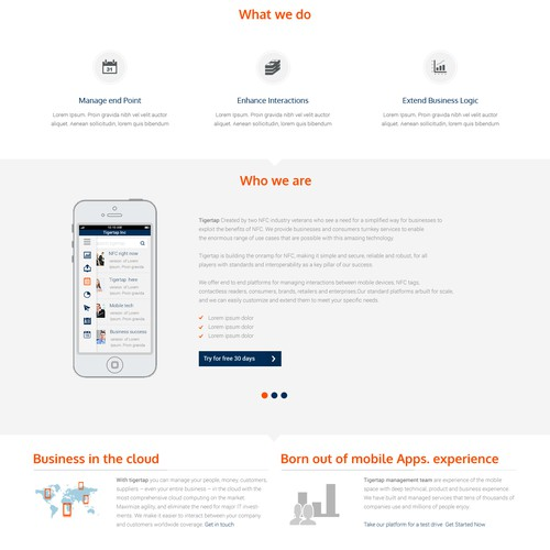 Cool new web site for a cool new mobile startup!!