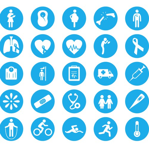 Create health event icons for patient oriented web app
