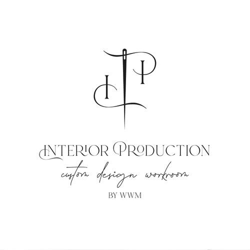 Elegant logo concept for an interior design studio
