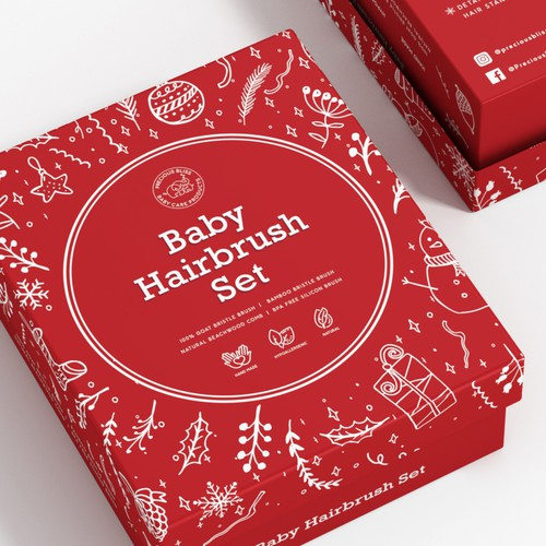 Eye catching & Creative Holiday season themed product packaging design for Baby product