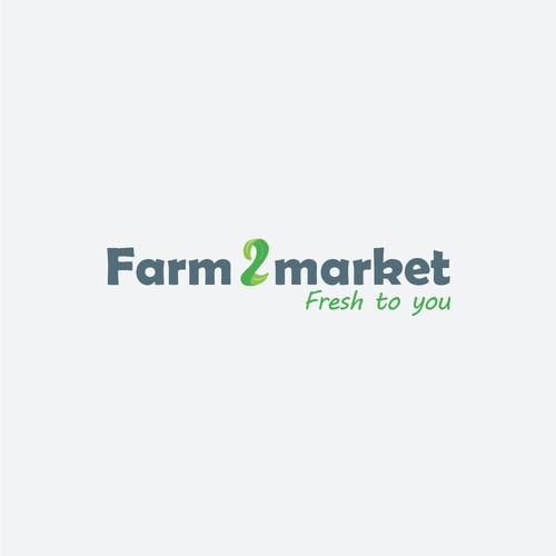 A fresh logo for an online farm market