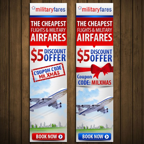 Help Militaryfares with a new banner ad