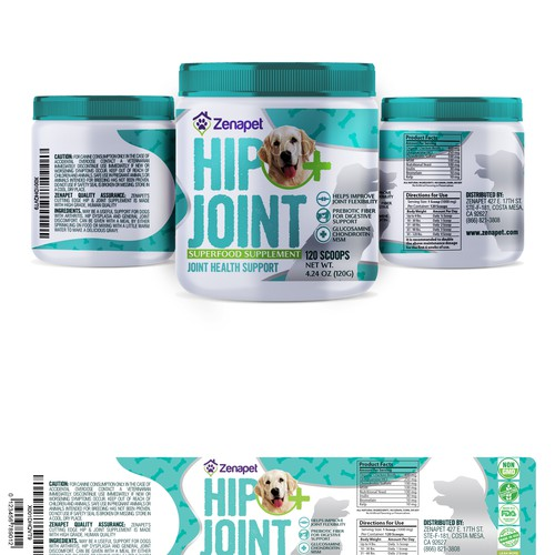 Dog supplement for hip and joints