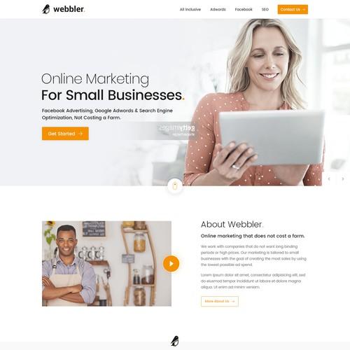 Online marketing agency looking for a sleek website design