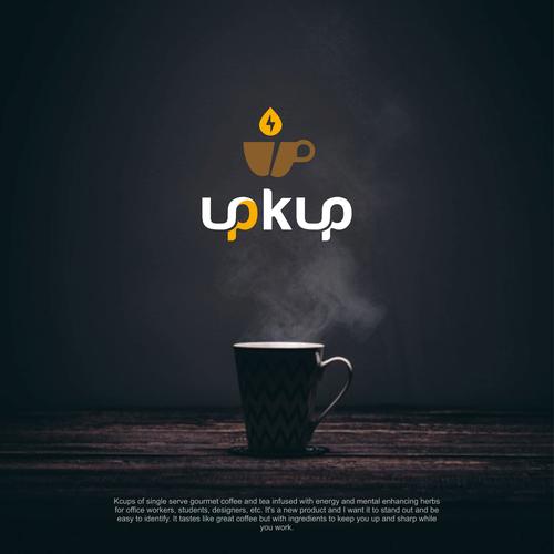 logo for brand upkup coffee and tea