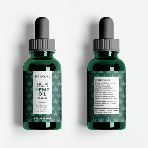 Label Design for Premium Hemp Oil