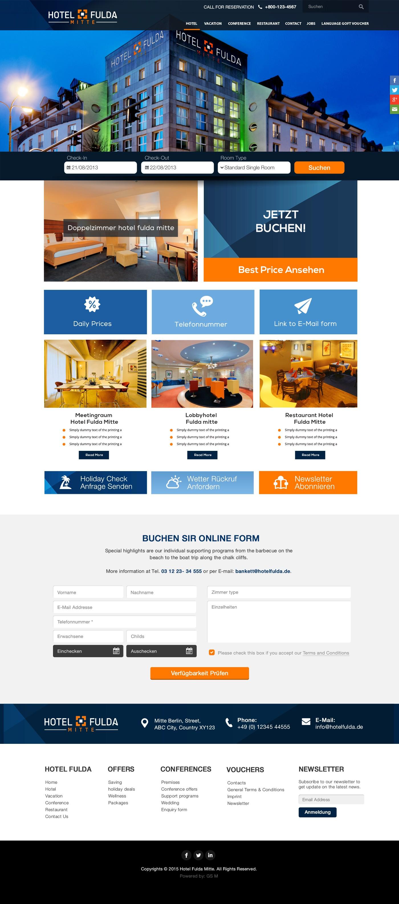 Create a Website Design Responsiv 4 Star Hotel