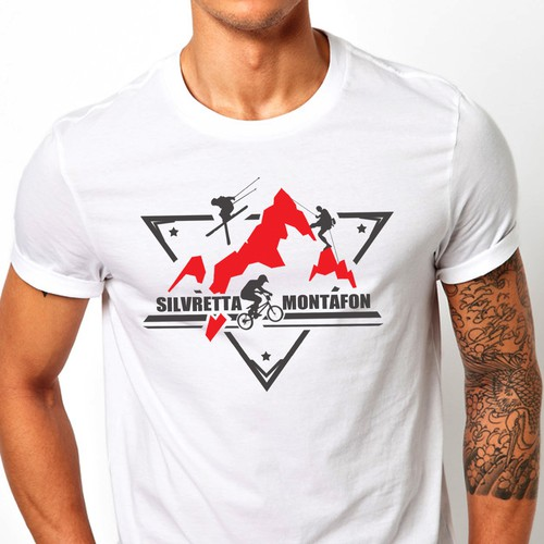 T-shirt design for a mountain company