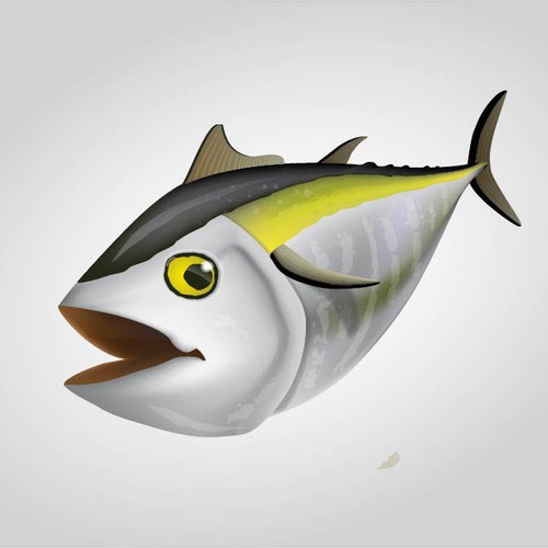 Saltwater Sport Fish design - Blackfin Tuna - for tournament flyer and tshirts.