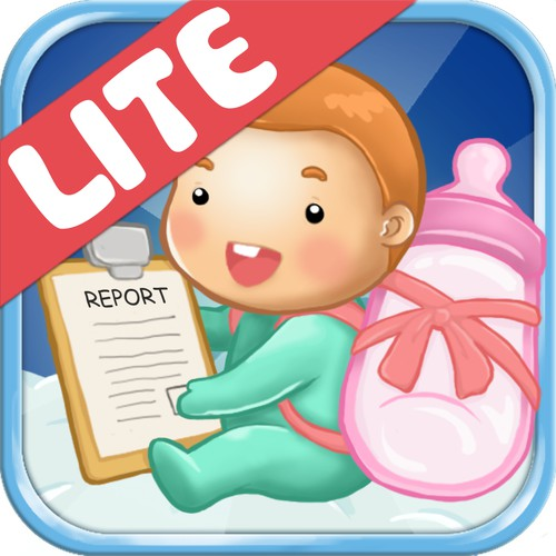 Icon design for mobile application Feed Baby