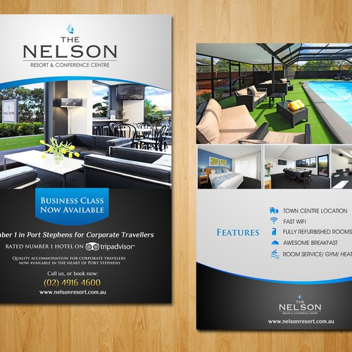 Create the next postcard or flyer for The Nelson Resort & Conference Centre