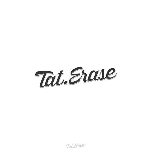 retro fancy logo for tat-erase