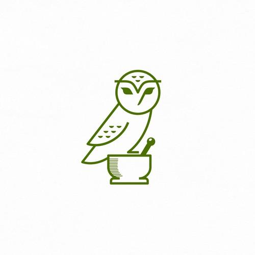 Owl Drug - Est 1923 | logo design