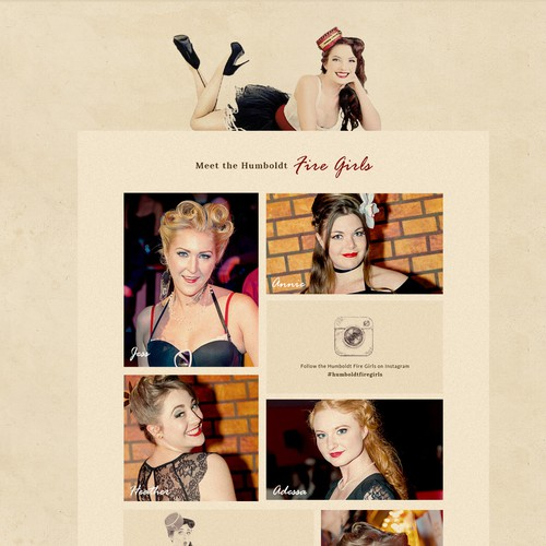 Pin-up Style Website