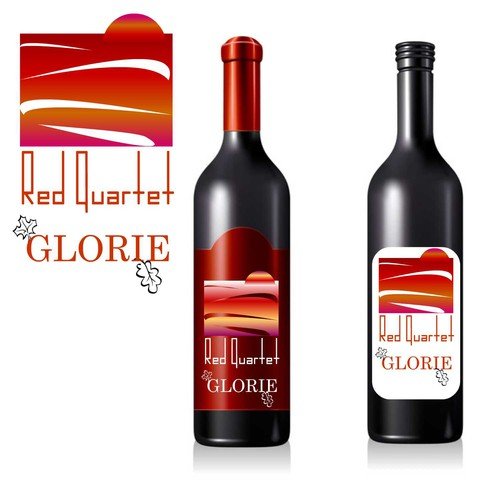 "Glorie ""Red Quartet"" Wine Label Design"