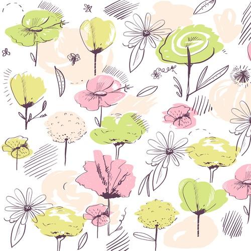 Feminine flower pattern for handbag