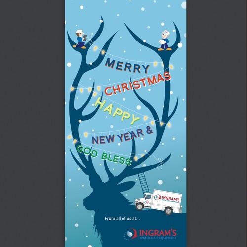 Christmas advertisement for company
