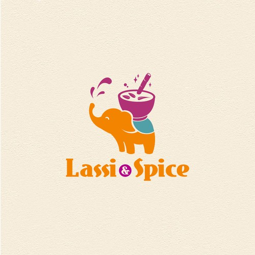 Elephant logo for Lassi Spice