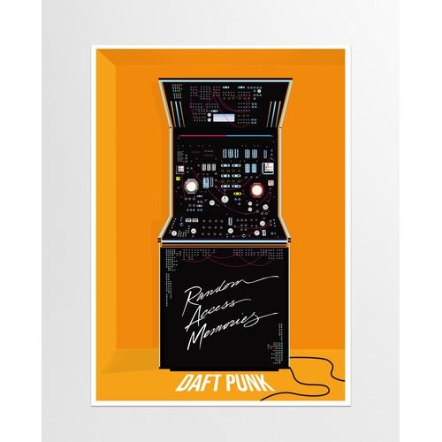 Daft Punk concert poster