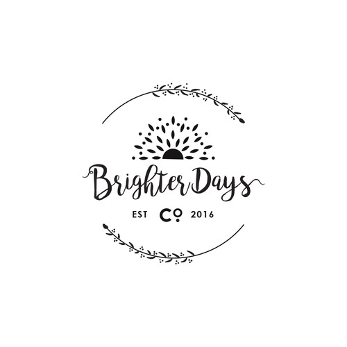 Logo concept for Brighter Days Co.