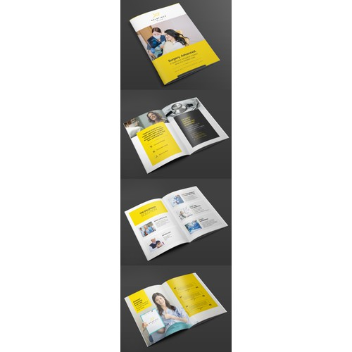 Design a stand-out booklet for a healthcare startup