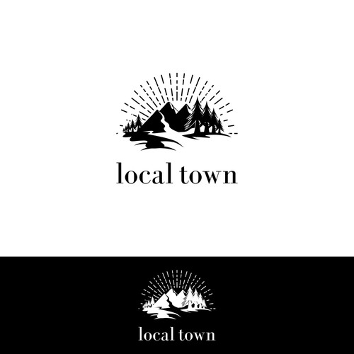 "Simple Yet Presence Logo Design for Apparel Brand ""local town"