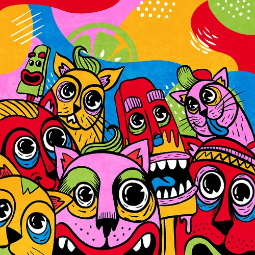 FrioFrio Wall mural concept art