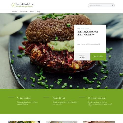UX/UI for vegan recipes website