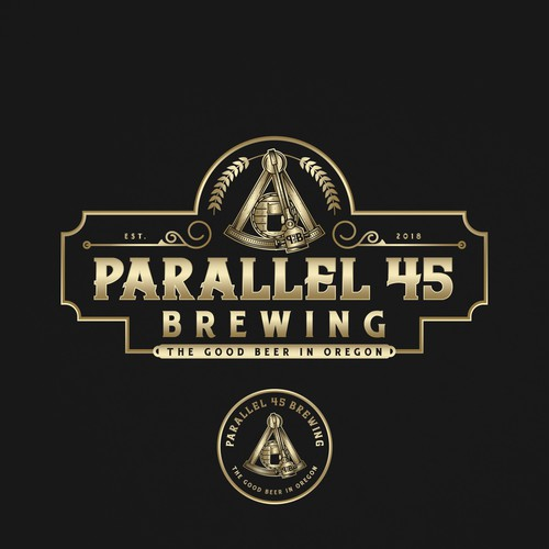 Sextant Logo for Parallel 45 Brewing