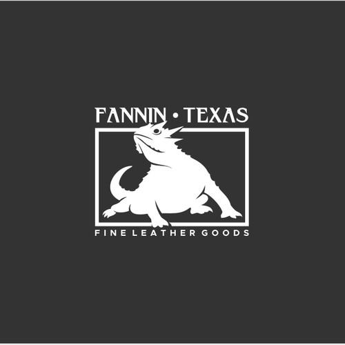 Design an elegant logo for horned lizard