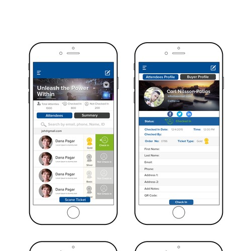 Event Management Mobile App Design