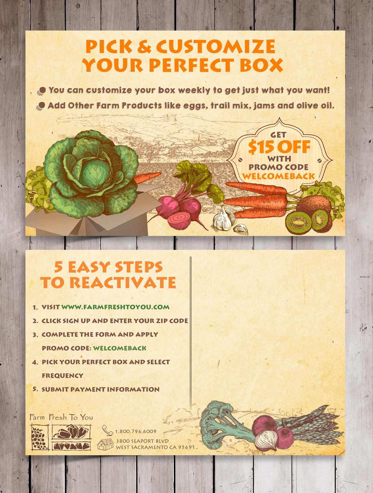 Create a Farm Delivery Postcard