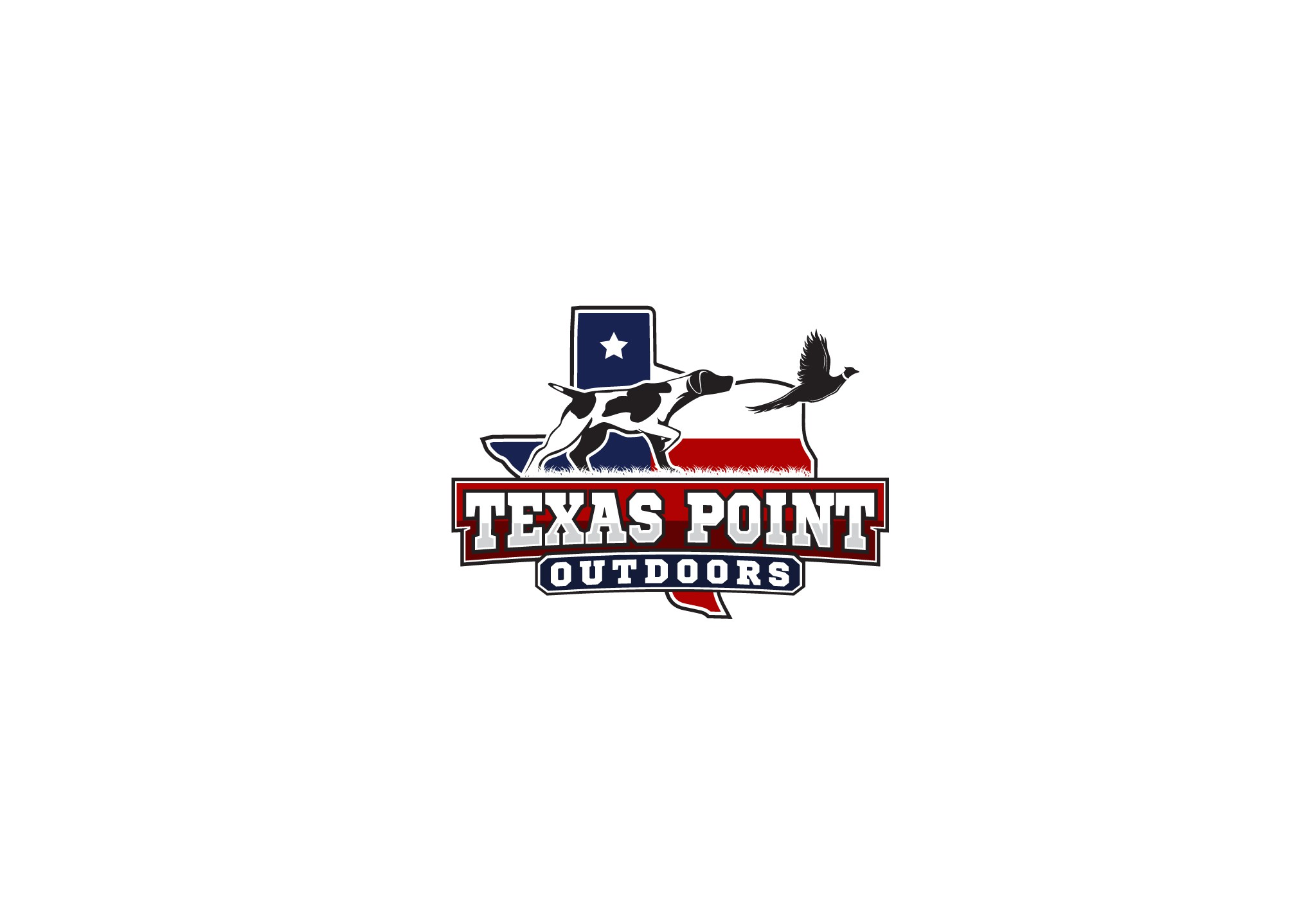 "Design a Logo for a startup outdoor apparrel company in state of Texas named ""Texas Point Outdoors"""