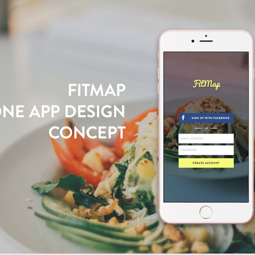 iPhone app concept for FitMap