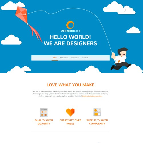 Flat Website for new 99designs category certification
