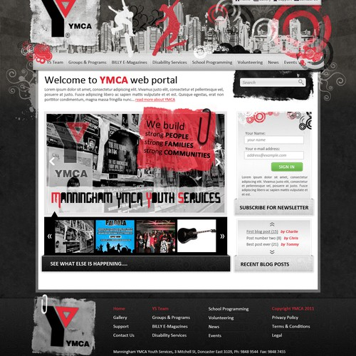 A local YMCA Youth Services needs a new WP design!