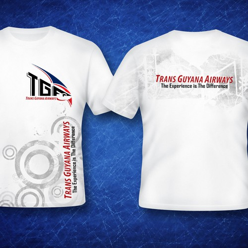 Create the next t-shirt design for Trans Guyana Airways