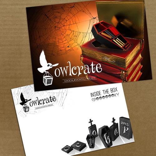 OwlCrate SPOOKY 5x7 Postcard Design