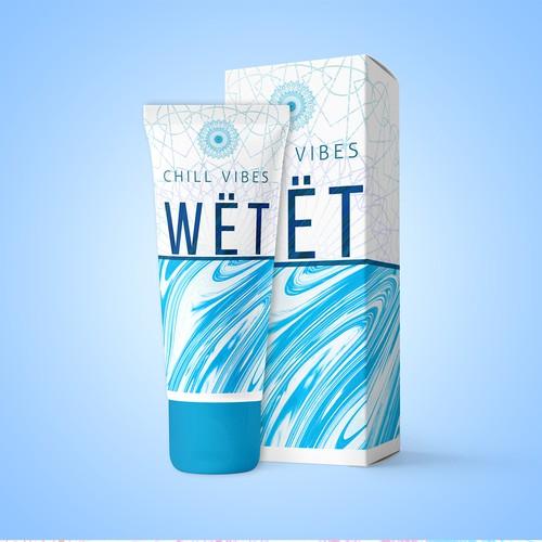 Shower gel package design.