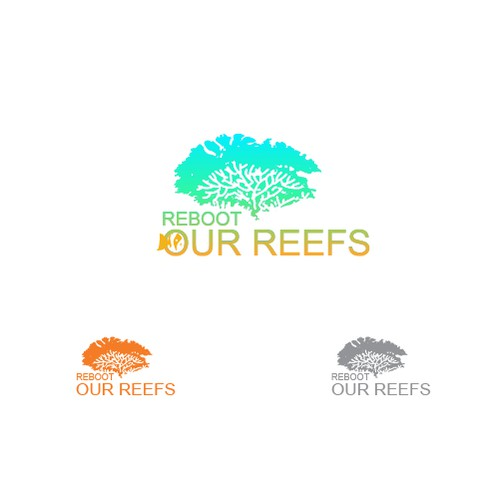 Logo for people working together to revive coral reefs