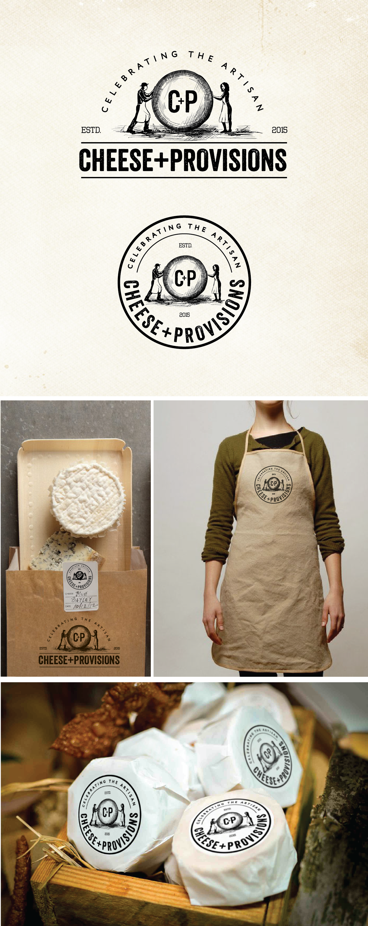 Create a logo for Cheese+Provisions, a cheese store celebrating American artisans