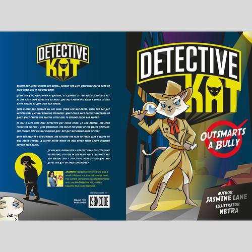 Detective Kat Book Cover Design