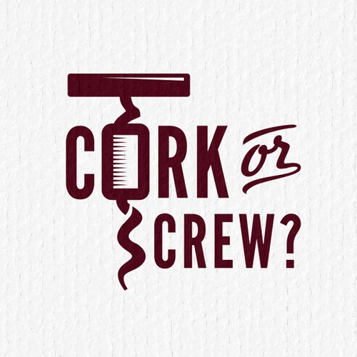 logo for Cork or Screw?